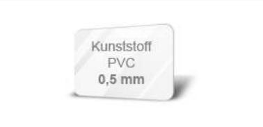 Kunststoff PVC 0,5 mm weiß